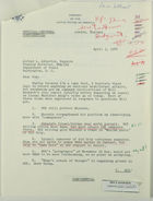 Letter from Stephen E. Palmer, Jr., to Alfred L. Atherton re: Minister Anug's Views, April 3, 1968