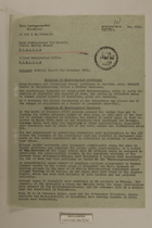 Memo from Dr. Riedl re: Monthly Report for November 1950