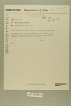 Telegram from Edward B. Lawson in Tel Aviv to Secretary of State, April 13, 1956