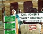 How Did Iowa Coalitions Campaign for the Equal Rights Amendment in 1980 and 1992?