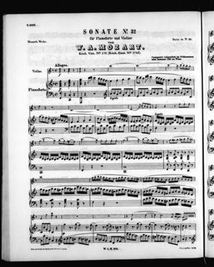 Sonate No. 32 für Pianoforte und Violine