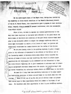 Statement of Purpose, 1920 [Recommendations of Black Women to White Women  of the Committee on Inter-racial Relations of the Women's Missionary Council of the M.E. Church South]