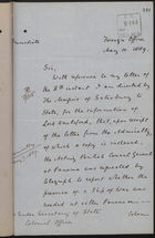 Letter from T. H. Sanderson to Under Secretary of State, Colonial Office, re: Ships of War No Longer Required, May 10, 1889