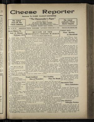 Cheese Reporter, Vol. 54, no. 22, Saturday, February 8, 1930