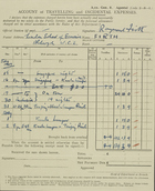 Account of Travelling and Incidental Expenses, Raymond Firth, July-September 1947