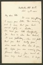 Letter from Emily M. Bakewell to Edith Thompson, October 29, 1885