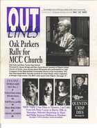 OUTLINES The Weekly Voice of the Gay, Lesbian, Bi & Trans Community Serving the Community Since 1987 NOV. 24, 1999