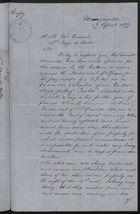 Copy of Letter re: Demands by the Cubans, April 17, 1897