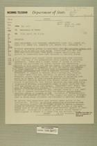 Telegram from Ivan B. White in Tel Aviv to Secretary of State, April 19, 1956