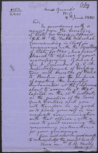 [Copy of] Letter from R. B. Hawley to J. C. Ardagh, June 8, 1880