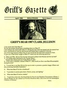 Griff's Gazette, Volume 2, Issue 4, April 1988