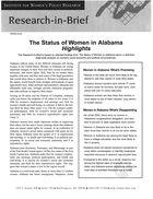 Research in Brief: The Status of Women in Alabama, Highlights, 2002