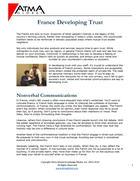 France Developing Trust