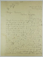 Letter from Bunyon Smith to Major Groves re: Worker Conditions, February 15, 1917