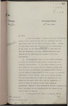 Letter from S. W. Knaggs to Earl of Elgin re: Report of Poor Law Inspector, June 14, 1906