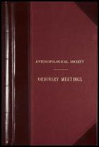 Ethnological Society of London: Minutes. 24 Feb. 1863 – 31 ha 1871.