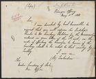 [Copy of] Letter from Lord Tenterden to the Under Secretary of State, War Office, May 11, 1881