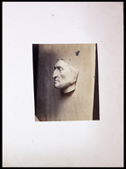 left profile of Dante in plaster