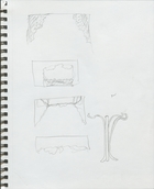 As You Like It: Thumbnail idea sketches for trees and columns