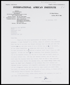 Letter from John Middleton, IAI, to MG, 23 Oct. 1973