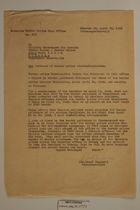 Letter from Josef Heppner to the Military Government for Bavaria - April 29, 1946