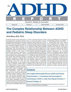 ADHD Report, Volume 20, Number 06, December 2012