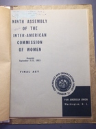 Final Act: Ninth Assembly of the Inter-American Commission of Women, Asunción, September 7-23, 1953