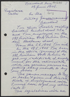 Handwritten Letter from Proehls to Military Government Spandau, June 29, 1946