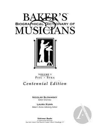 Baker's Biographical Dictionary of Musicians, vol. 5