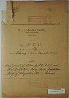 Document File - Panama Canal - Executive Office File: 2-E- 11, Part 3, February 01, 1916 to November 15, 1921