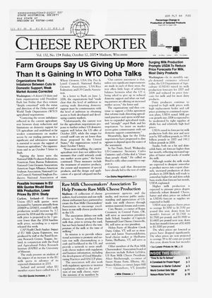 Cheese Reporter, Vol. 132, No. 15, Friday, October 12, 2007