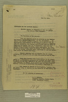 Memos Regarding Smuggling of Arms and Ammunition into Mexico by Yaqui Indians, June 12-30, 1919