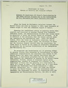 Summary of Dept. of State's Participation in Cuban Refugee Program & Repatriation from Cuba of U.S. Nationals and their Families, August 19, 1963
