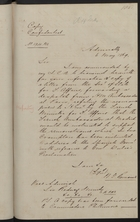 Correspondence from E. Hammond and W. G. Romaine re: France and the Address by Sir John Crampton on the Dulce Proclamation, May 5-6, 1869