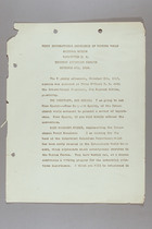 First Convention of International Conference of Working Women, Washington, D.C., 6 November 1919, Afternoon Session, Eighth Day