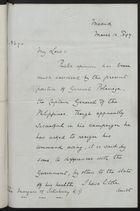Letter from H. Drummond Wolff to the Marquess of Salisbury, March 13, 1897
