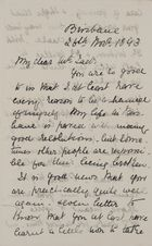 Letter from Jessie Love to Robert Jack, November 26, 1893