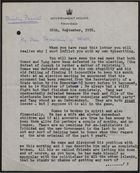 Letter from Edward Beetham to Secretary of State re: Albert Gomes Election Defeat, September 26, 1956