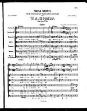 Missa Brevis, K. 65, D Minor