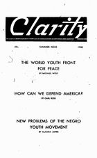 Clarity (periodical), Vol. 1 no. 2, Summer Issue, 1940, Clarity, Vol. 1 no. 2, Summer Issue, 1940