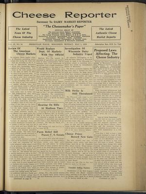 Cheese Reporter, Vol. 57, no. 34, May 1, 1933