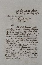 Letter from Robert Logan Jack to Queensland National Bank Manager, July 10, 1893