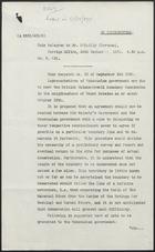 Code Telegram to Mr. O'Reilly in Caracas, 24th September, 1931