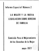 La Mujer y La Nueva Legislacion Sobre Derecho de Familia