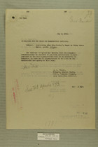 Memos from R. E. Wyllie and Newton D. Baker re: Maintaining Road from Cooley's Ranch to White River Indian Agency, Arizona, May, 1919