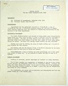 John T. Lassiter, re: General Report, September 1-15, 1943