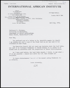 Letter from Ruth Jones to MG, 2 July 1973