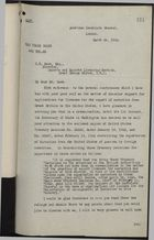 Letter from W. Stanley Hollis to S. W. Hood re: U.S. Treasury & Licensing of Narcotics Exports from UK to U.S., with Attached Treasury Decisions, March 24, 1920