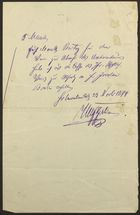 Brief Letter in German from Berlin [person], November 23, 1894