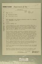 Telegram from Tel Aviv to Secretary of State, May 9, 1957